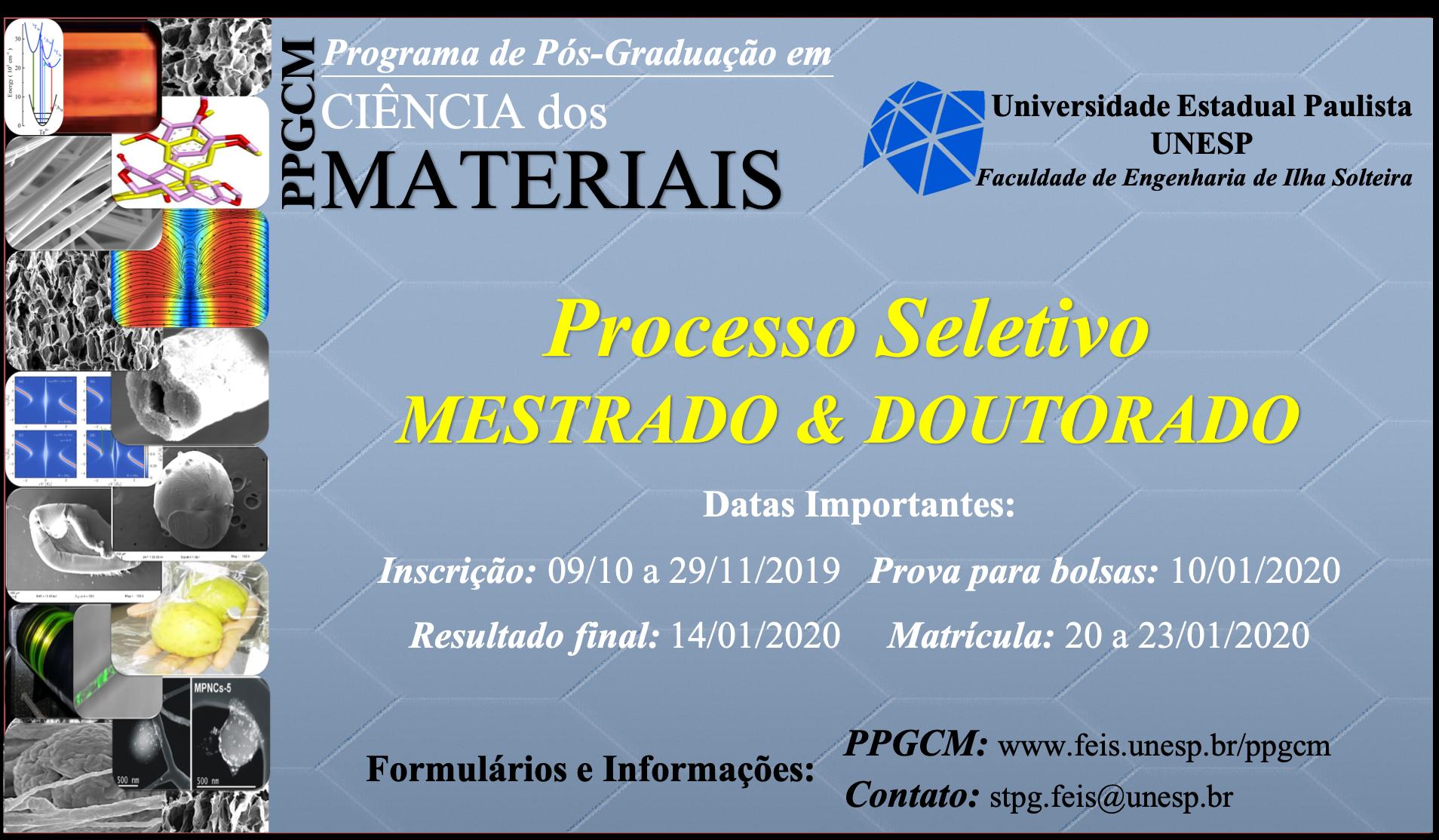 Programa De Pós Graduação Em Ciência Dos Materiais Ppgcm